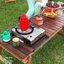 露營小站~【HC807】HOT CAMP 胡桃木多功能伸縮料理桌-【國旅卡】