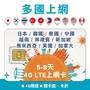 多國上網卡 5-8天 4G上網 不降速吃到飽 日本/韓國/泰國/中國/越南/菲律賓/馬來西亞/新加坡【下單贈旅行收納袋】