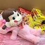 BEETLE 日本進口 不二家 牛奶妹 PEKO DOLL 櫻花粉 變身貓咪 公仔 零食 巧克力 附紙袋 生日禮物 J-113