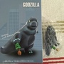 Q版哥吉拉Godzilla 踩樹版 公仔