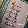全新現貨 Vivienne Westwood彩釉色土星耳環耳飾耳釘七款 附完整原廠盒或防塵帶數量有限