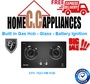 EF Built in Gas Hob - Glass - Battery Ignition EFH  7623 HM VGB | 2 BRASS BURNERS | FREE DELIVERY