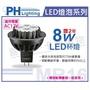 PHILIPS飛利浦 LED 8W 3000K 黃光 36度 12V 可調光 MR16 杯燈 _ PH520240