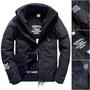 跩狗嚴選 極度乾燥 Superdry 男款 Snow Rider 滑雪騎士夾克 風衣 風衣 防風水 雪衣 深灰 深藍