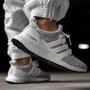 【艾莉絲】Adidas Ultraboost 4.0 黑白雪花 白底 編織襪套 慢跑鞋 F36155 白色