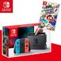 【活動限定】任天堂Switch主機+超級瑪利歐派對 (贈:玻璃保護貼)紅藍手把