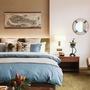 寬庭行旅-環遊世界-單人三件式被套床包組(爵士藍+天使白)