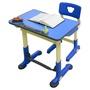 HanU 兒童健康可調整全成長書桌椅(1桌+1椅)-藍色