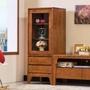 【BODEN】森克1.7尺全實木展示櫃/收納櫃/高櫃(柚木色)
