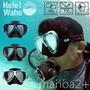 日本潛水品牌HeleiWaho 潛水 浮潛 面鏡 蛙鏡 雙面鏡大視野 自由潛水 水肺潛水 四色 軟矽膠