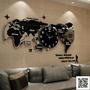 創意鐘表掛鐘客廳現代簡約大氣時尚裝飾北歐世界地圖個性石英時鐘 mks 聖誕慶免運