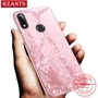 Rzants For Huawei Nova 3i Case【Diamond Glass】 Tempered Glass Back Cover Phone Casing and Soft TPU Frame
