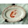 阿嬤的古早手繪龍蝦盤陶瓷盤蝦盤台灣早期年代辦桌專用盤不含拍攝座台