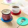 保溫墊  USB保溫杯墊 卡通創意硅膠加熱保溫杯墊暖杯器保溫碟咖啡保溫杯墊 夢藝家