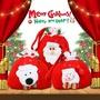 聖誕節禮品袋 聖誕節裝飾品禮物袋平安夜老人蘋果袋包裝盒糖果平安果手提禮品袋 城市科技