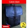 新款Calvin Klein時尚雙肩包ck雙肩包 後背包包釦帶拉鏈款式旅遊外出藍色