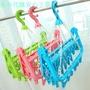 【32夾2個裝】折疊衣架防風晾衣架兒童襪子架掛嬰兒家用曬架