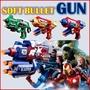 Soft Bullet Nerf Gun Style Toy Avengers Series (Cap America)