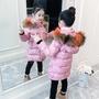✙女童棉衣2018新款冬裝韓版童裝小女孩棉襖加厚中長款兒童棉服洋氣