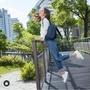 2019kipling秋冬新款 林依晨款城市隨行藍拉鍊式小巧收納後背包-DELIA mini 和大的