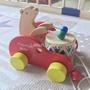 🌿木製小熊敲鼓手拉玩具車/學步玩具🌿 寶寶玩具 手拉車 學布玩具 嬰兒玩具 木質 敲鼓 小熊 拉拉車 兒童玩具 無毒