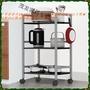 廚房收納推車置物架家用餐推車三層餐邊移動置物車落地儲物架子