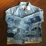 全新 LEVI'S 高端支線 LMC 日本製 Boyfriend Trucker Jacket 拼接牛仔外套
