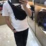 潮牌VERSACE 範思哲男士腰包單肩包胸前包時尚休閒歐美潮帆布防水男包大容量背包斜跨包
