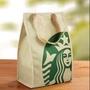 外貿原單星巴克保溫袋 保冷袋 便當袋 手提袋 材質:牛津布+鋁箔+ 魔鬼氈 呎吋:約20×27×11cm(39元)