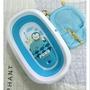 PUKU 藍色企鵝 Whale鯨魚摺疊浴盆+可調式沐浴網