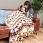 可愛糜鹿造型 法蘭絨懶人毯 毛毯 毯子