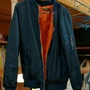 深藍 長袖 飛行外套