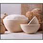 三能  圓型 發酵籃 SN4515  麵包發酵籃 籐籃 藤籃 ◆◆大祺百貨◆◆