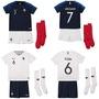 法國主場球衣 2018世界盃球衣 nike 法國嬰兒球衣兒童足球服套裝主場球衣894057-451 32強球衣 可印號