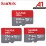 現貨SanDisk Ultra MicroSD高速記憶卡 512GB 256GB 手機記憶卡 200GB SD卡