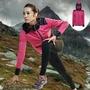 【巷子屋】義大利第一品牌-LOTTO樂得 女款抗UV極輕量防水軟殼外套 保暖1級[1127] 紫粉