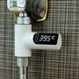 《超殺價格》知暖無源花灑蓮蓬頭溫度計,安全無耗電LED數字顯示
