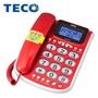【美寶家電】全新TECO 東元 來電顯示 有線電話XYFXC102 (白/紅) 大音量 來電報號