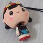 吊飾 原住民小女孩 可愛 大頭娃娃 擺頭吊飾 迷你 新住民 民族紋路