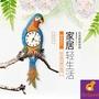 鐘錶時鐘鸚鵡掛鐘歐式客廳簡約壁鐘藝術裝飾_☆IsFine☆