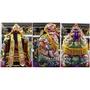 神衣 神明衣 2尺長 1尺8連座神尊穿 坐2尺高椅穿 手工 塞棉 跳紗 龍袍 橘 含奉帽