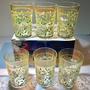 絕版收藏古早貼花玻璃杯 一組6個 水杯