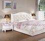 【N D Furniture】台南在地家具-法式宮廷鄉村風半實木烤白色被櫥式5尺雙人床架/床台MC