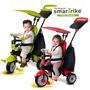 英國smarTrike新一代 英倫俏皮史崔克嬰幼兒4合1三輪車(青蘋綠、櫻桃紅)