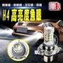 【車的LED】H4魚眼 10LED 白光 80W (單入組)
