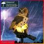 太陽能貓頭鷹燈 棕色