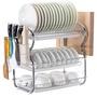 現貨💨雙層廚房落地瀝水碗碟架不銹鋼收納架子碗盤置物架 不銹鋼廚房單層碗架瀝水架碗盤架碗碟洗涼放碗架置物架