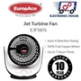 ★ EuropAce EJF 581S 8 Inches Jet Turbine Fan ★ (10 Years Warranty on Motor)
