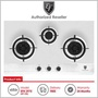 EF ( EFH 3975 WT VSB ) 3 Burner Built-In Gas Hob with Stainless Steel Top