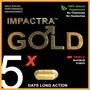 Impactra Gold 5x | 100% Natural Sexual Enhancement | Tongkat Ali | One Capsule = 5 Days Long Action